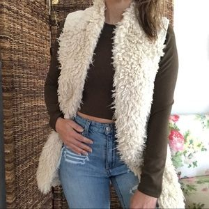 Anthropologie HEI HEI faux fur embroidered vest